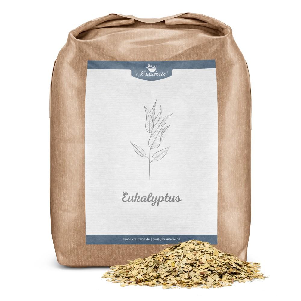 Krauterie Eukalyptus geschnitten 1 kg Verpackung