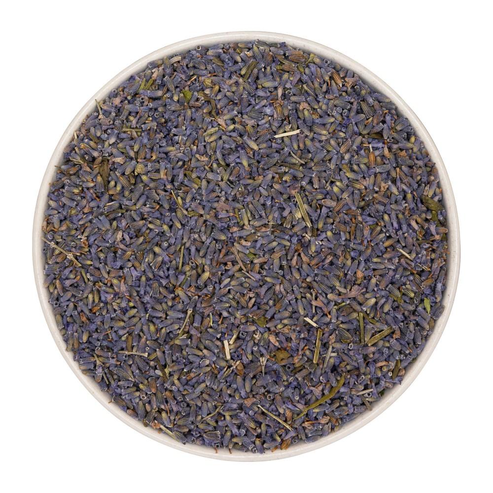 Krauterie Lavendel-Blüten für Pferde, ganz und Pulver, Verpackung