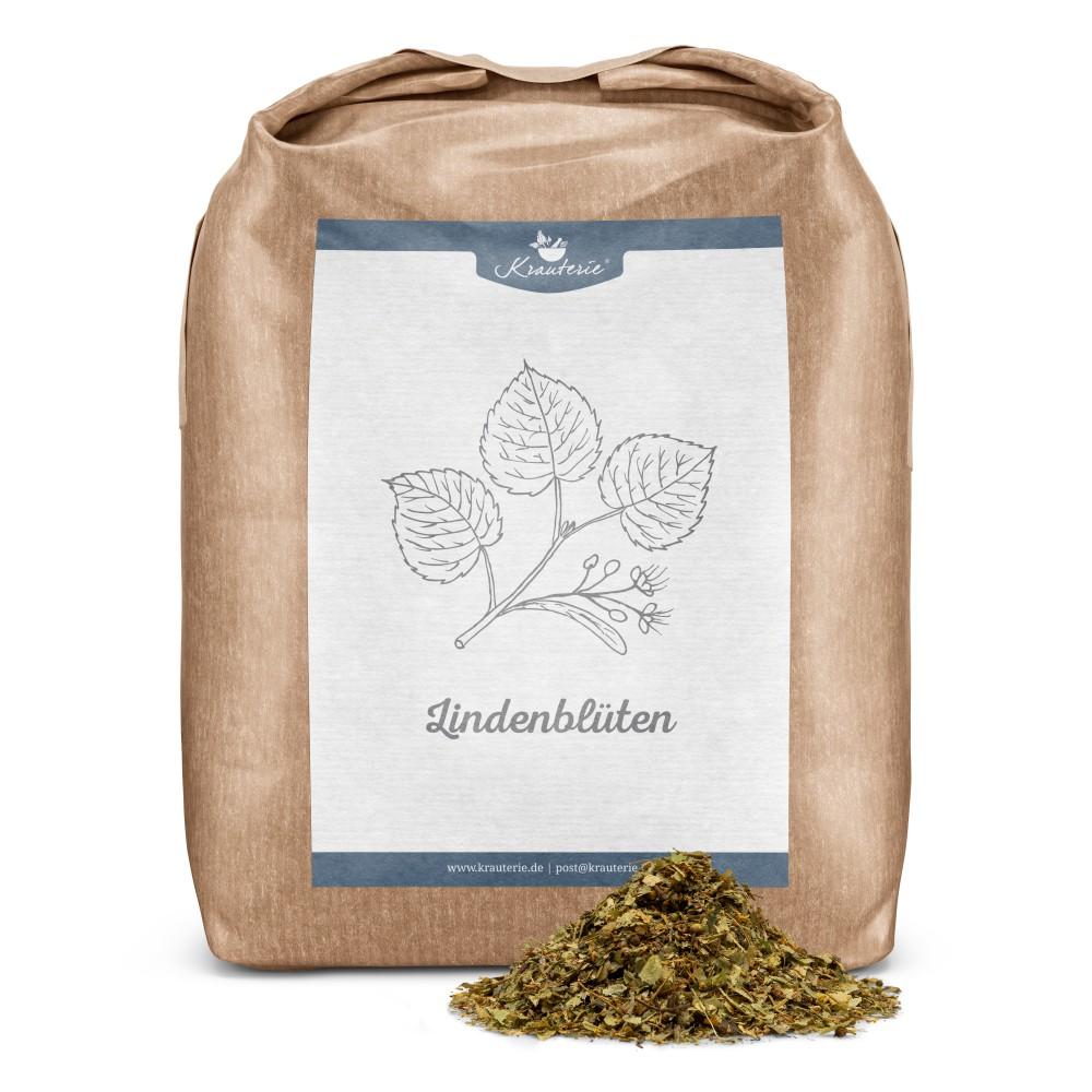 Krauterie Lindenblüten für Pferde, geschnitten, Verpackung
