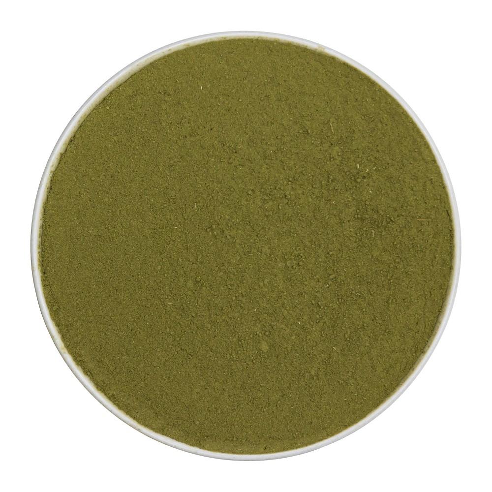 Löwenzahnkraut und -wurzel (Taraxacum officinale) gemahlen