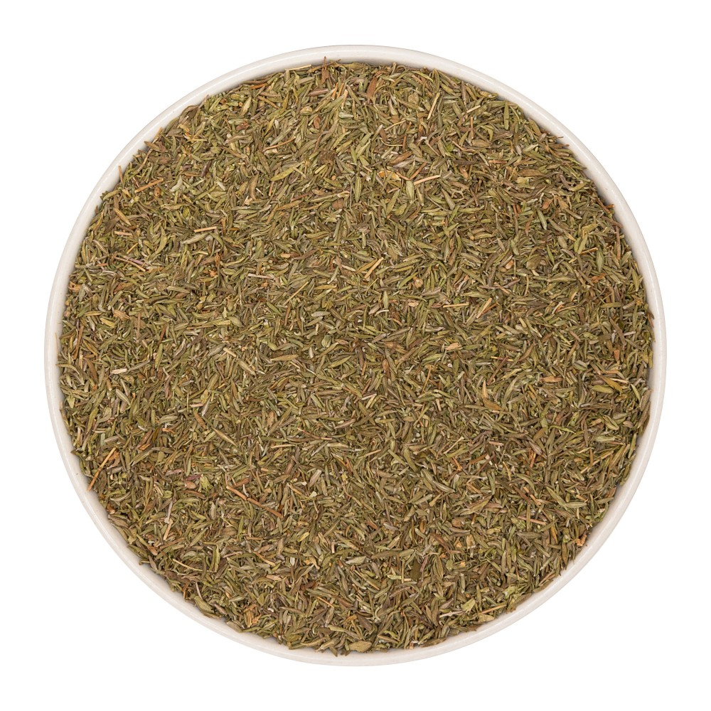 Krauterie Thymian (Thymus vulgaris) gerebelt Detail