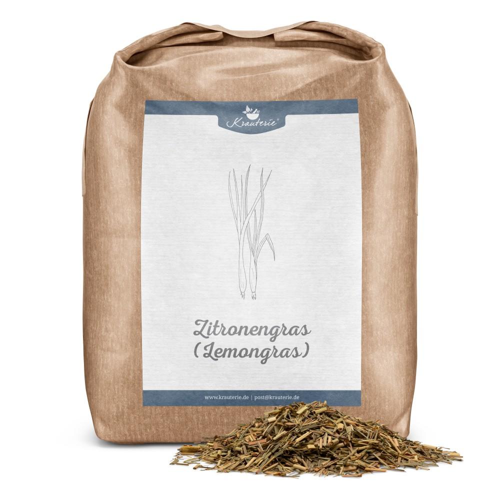 Krauterie Zitronengras für Pferde, geschnittenes Lemongrass, Verpackung