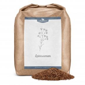 Leinsamen für Pferde, braun, ganze Samen